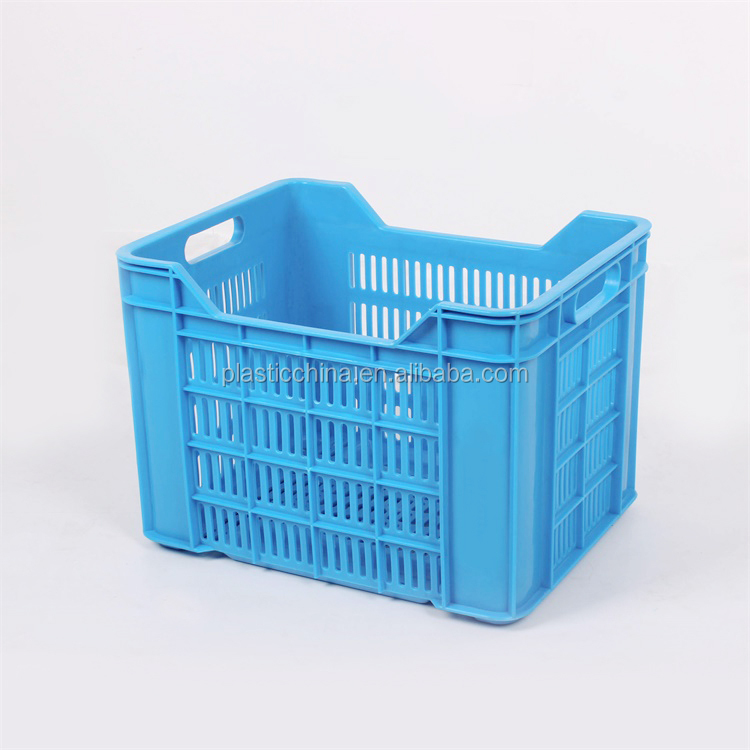 30KG BX0358C 2017 New design nestable plastic agricultural colored crate