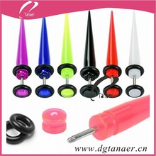 body jewelry mix silicone tunnel