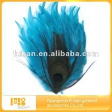 New Style simple Fashion Blue Feather Headband For Sale/indian feather headband/beauty feather headband