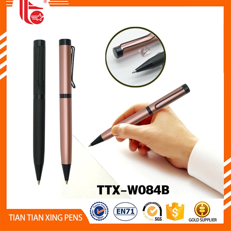 Office stationery set Wholesale hotel metal roller ball pen