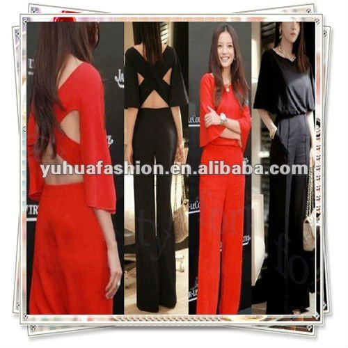 Sexy Ladies Cross Halter Long Trousers Playsuit Rompers Jumpsuit,sexy ladies jumpsuit