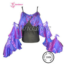 Professional Costom Newest Sequin Dance Tops Wholesale T-58