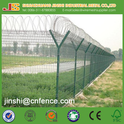 2.1m high galvanized Welded Wire Mesh airport Fence for sales