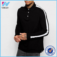 Yihao New Design Mens Long Sleeve Blank Polo T Shirt Custom Dry Fit Polo Shirts Wholesale