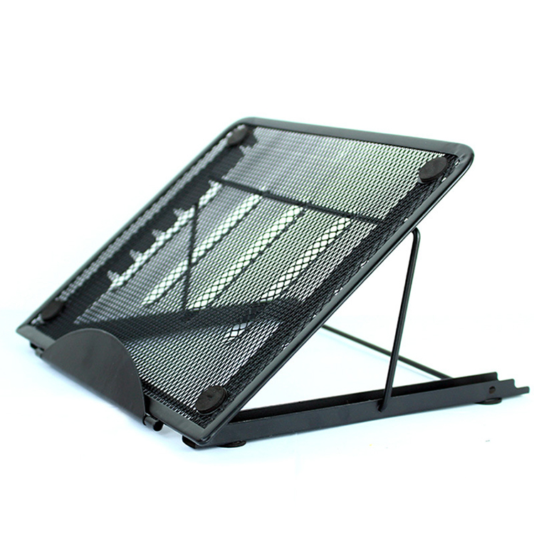Office home school black foldable metal mesh desk desktop ipad computer laptop stand