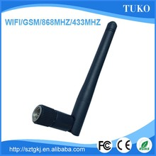 Best sell free sample smart antenna 2.4G rubber marerail omni WiFi antenna with SMA Male connector
