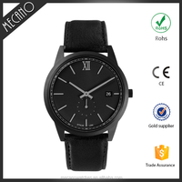 2016 New Arrival Black Two Hands Vogue Watches With PVD Plating