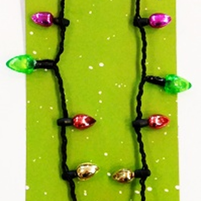 Battery operated necklace led light up christmas bulb necklace party favors