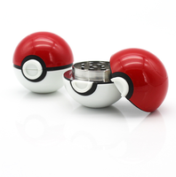 pokemon weed high quality free sample premium wholesale metal oem design weed tobacco herb custom smoking metal pokeball grinder