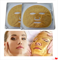 Cosmetic powerful anti-aging moisturizer gold collagen face mask