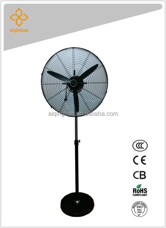 Sealed electric motor 26 inch industrial grade pedestal mounted fan ideal for industrial spaces needs powerful air circulation