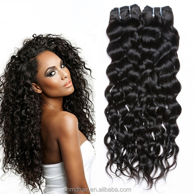 t 100% unprocessed human hair 7A virgin peruvian hair water wave