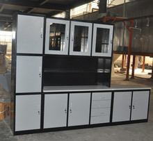 new china products for sale cheap price steel cupboard kitchen with glass