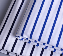 Factory supplier 100%cotton yarn dyed knitted single jersey stripe fabric for shirt