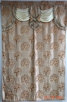 Wholesale American church jacquard valance curtain with attached fringe