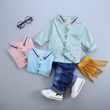 HT-LOC 2017 cheap handsome nice cute baby boy autumn clothes sets kids clothing turkey wholesale children clothes