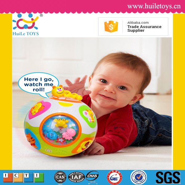 High quality huile toys cute free shipping plastic toy ball with ASTM