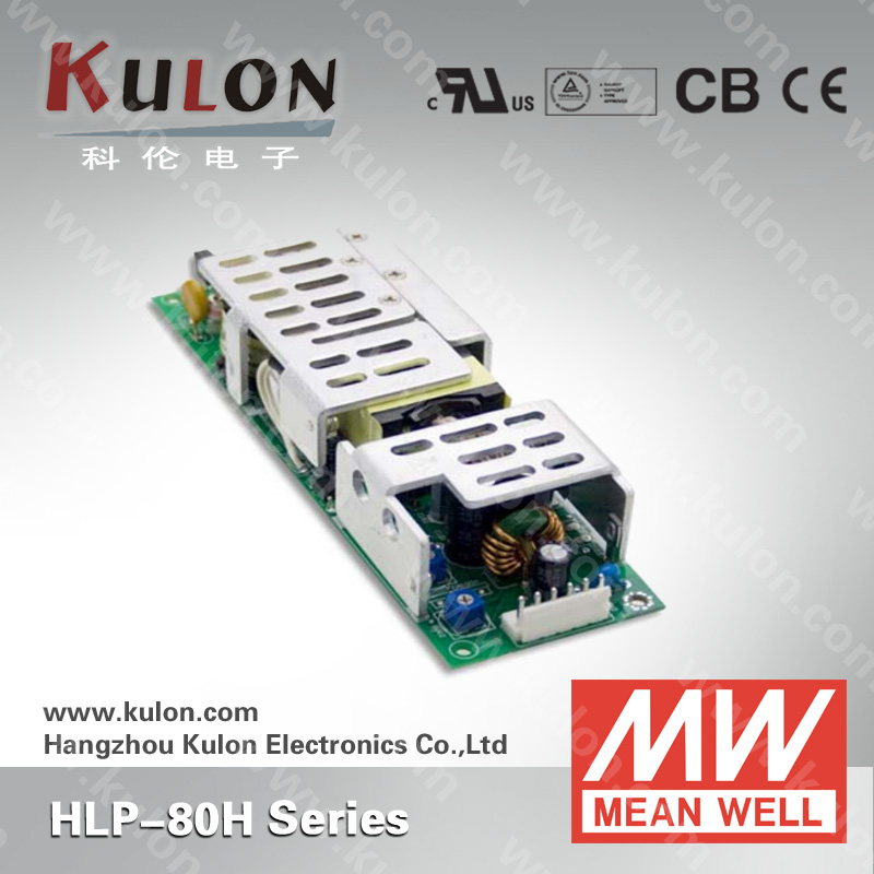 MEAN WELL LED DRIVER HLP-80H 12V 24V 36V 48V 54V 80W led lighting dimmable driver with 3 years warranty