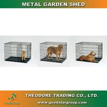 Pet Cage Black Foldable,metal foldable cage pallets GSGX-03