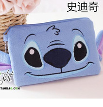 Mickey & Minnie Stitch plush wallet mobile phone bags pencil case multi-admission Household Storage