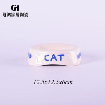 Ceramic cat food bowls,ceramic water bowls for dogs,Ceramic Pet bowl,Hot Sales