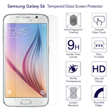 9H Hardness Anti-Scratch mobile phone HD ultra thin tempered glass clear screen protector Film for Samsung galaxy S6