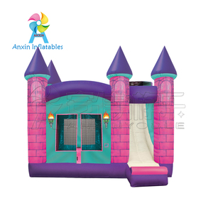 commercial grade PVC Material and princess Castle Type bouncer slide combos