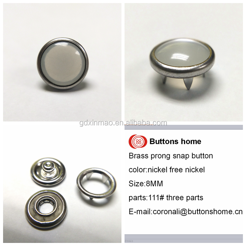 Buttons home prong snap button with pearl