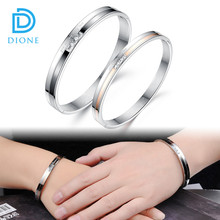 316L Stainless Steel Bracelets for Mens Women Couples Bracelets Set CZ With IP Plating (you are my only love)