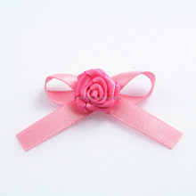 hand make garment satin ribbon roses
