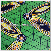 real wax plain white cotton fabric with fashion design
