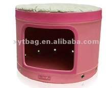 Double floor pet house with muti-function