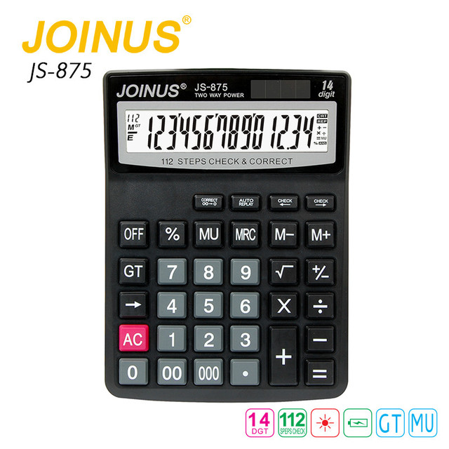 Wholesale Cheap Factory Price JOINUS Big LED Display Business Office Electronic Solar Home 14 Digit Calculator For Student