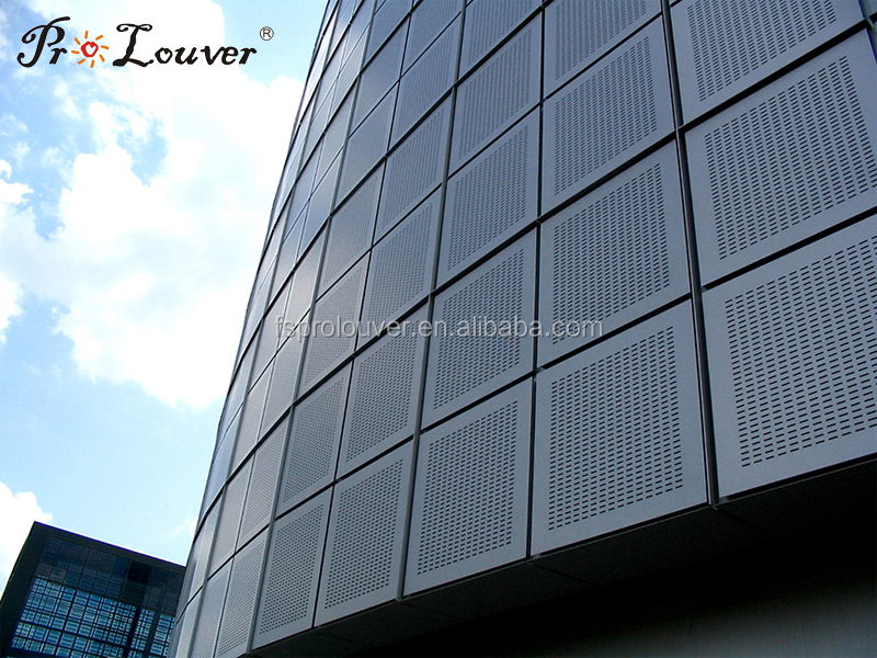 Metal Architectural Screen Wall : Exterior perforated metal aluminum panel for building