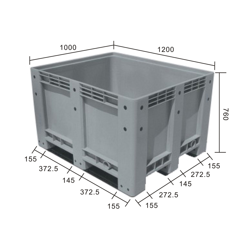 Plastic Pallet Bin Box For Cargo & Storage & Fruits & Vegetables