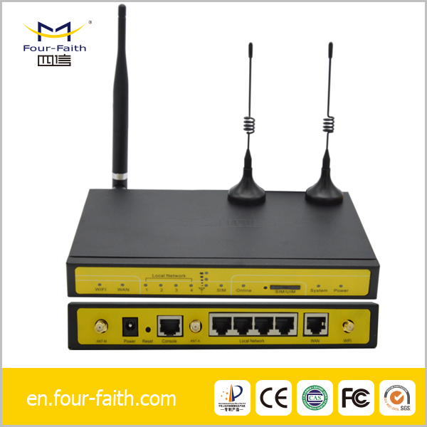 F3436 gprs gsm modem Industrial Wireless 3G 4-Port WCDMA-WCDMA Ethernet Router with Dual SIM, RS232