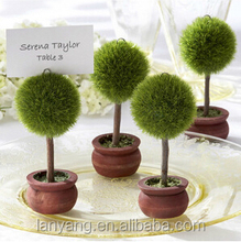 Topiary place card holders/ Custom name tag holders/ Hand painted party supply/ Wedding