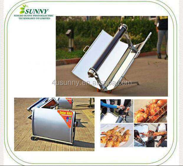 Vacuum tube type portable solar cooker, solar oven price for BBQ