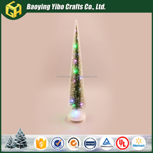 2017 new product glass christmas tree with LED for home decoration