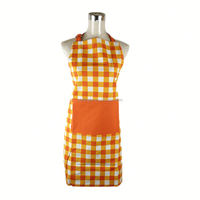 Good quality 250gsm 100% cotton canvas fabric long bib apron double sided apron with pocket