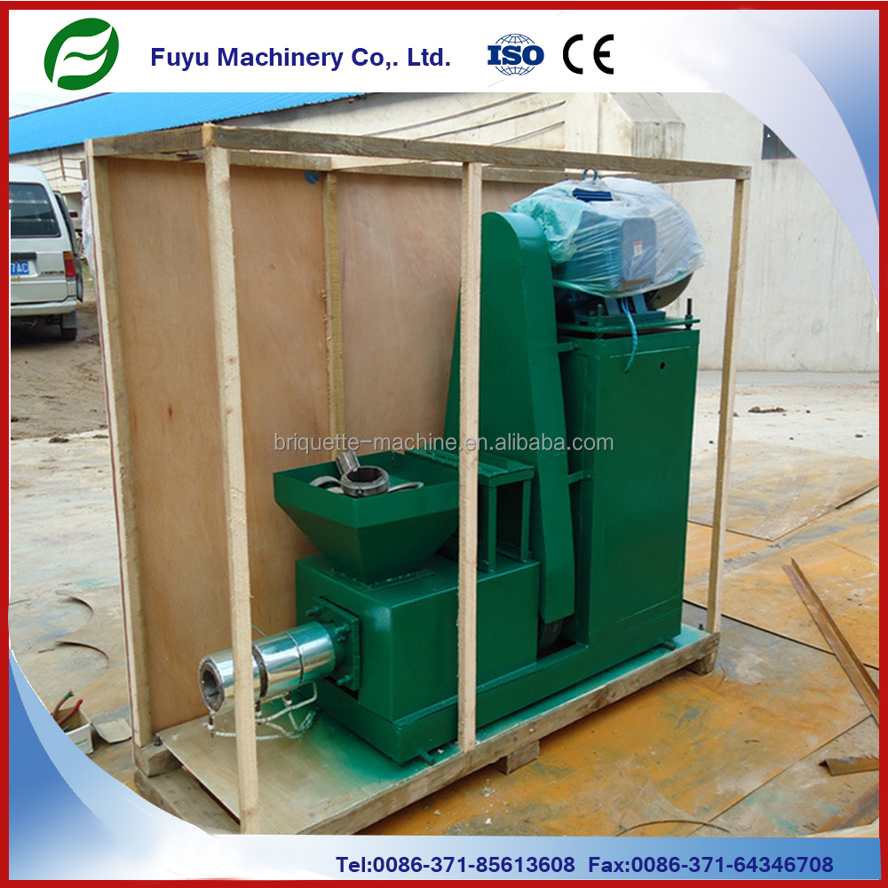 Recycling biomass materials sawdust charcoal extruder briquettes machine