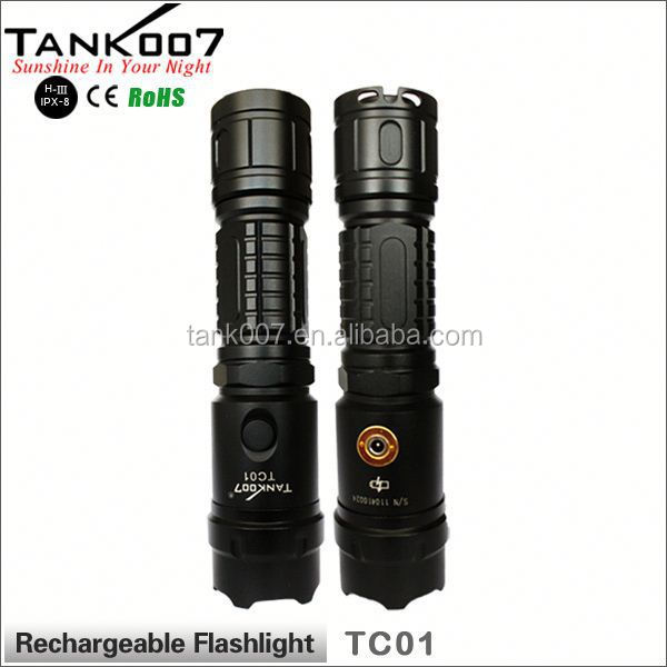 Rechargeable torch outdoor led flashlight police 50w flashlight