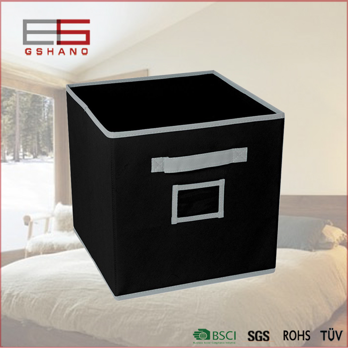 Folding fabric closet office cube baby storage boxes and bins with label