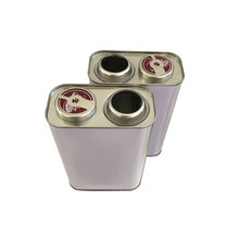 1L squear empty Metal tin can / quart tin box metal container used for packing chemical