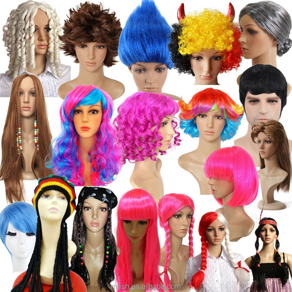 MPW-0030 Festival Halloween Carnival Adult Novelty Fancy Funny Party wig