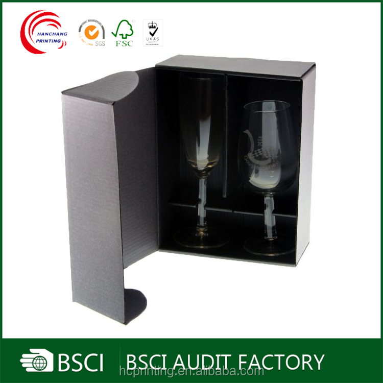 Wholesale cardboard boxes for wine glasses with custom logo