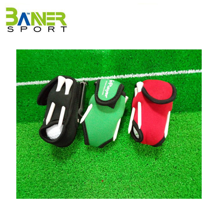 2017 High Quality Golf Ball Pouch/Disc Golf Bag Polyester/Cheap Golf Bags