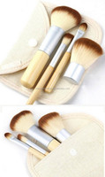 1set/4Pcs Bamboo Elaborate Powder Blending Eyeshadow Makeup Brushes Professional Cosmetic Make Up Brush Set Best Quality!