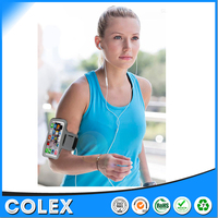 Running Black waterproof sport armband case, sport armband case for mobile phone