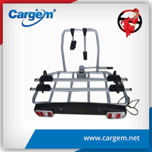 CARGEM Aluminum Car Tow Ball Rear Mounted Bike Rack Bicycle Carrier For 3 Bikes With Light